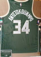 Giannis Antetokounmpo Autographed Jersey with JSA C.O.A & Giannis Hologram C.O.A