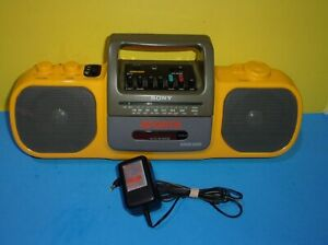 Sony Sports CFS-905 Radio Cassette-Corder Mega Bass Boombox w/ Power Adapter