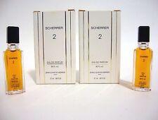 SCHERRER 2 JEAN LOUIS SCHERRER MINI PERFUME EDP LOT 2 BOTTLES 3.7 ML 1/8 OZ  NIB