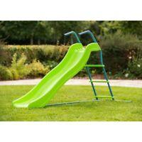 Outdoor Garden Playground 5.8ft Large Sturdy Wavy Slide Toy Children Kids Play