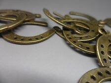 20 tibetan Bronze Horseshoe charm,Pendant~craft hobby & jewellery making 30x22mm