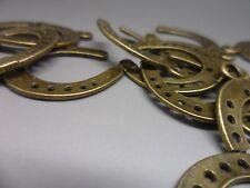 50 Colgante De Bronce Herradura encanto, ~ 30x22x1mm, la artesanía & fabricación de joyas comprar a granel