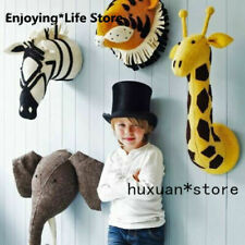 Wall Mount Stuffed Soft Toy Animal Head - Zebra - Elephant - Bedroom Decoration