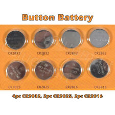 8pcs Lithium Cell Button Batteries Pack CR2032 CR2016 CR2025 Coin Battery Pack
