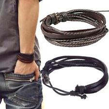Unisex Leather Bracelet Damen Herren Surferarmband Wickelarmband Leder Armband