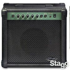 """NEW Stagg 20 Watts 20-BA Deluxe Bass Guitar Amp with 8"""" Speaker + Medal Grille"""