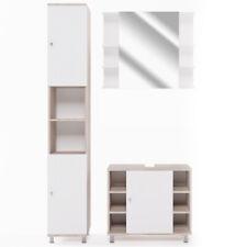 VICCO Badmöbel-Set FYNN - Spiegelschrank Unterschrank Badschrank Hochschrank