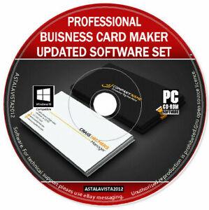 Professional Business Card Maker Creator Editor - Design & Print Software PC DVD