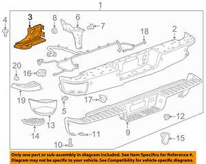 GM OEM Rear Bumper-Bumper Brace Right 23108149
