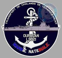 AUTOCOLLANT MARINE TCD L'OURAGAN TRANSPORT DE CHALANDS DE DEBARQUEMENT TB015