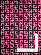 Sewing Room Theme Machine Toss on Black Cotton Fabric Studio E Sew Much Fun YARD