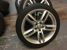"19"" GENUINE A7 AUDI A7 A6 A5 A4 S LINE WHEELS & TYRES SET OF 4 GOOD CONDITION"
