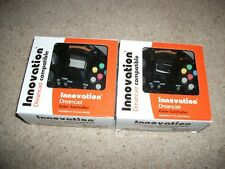 2x (TWO) INNOVATION - DREAMCAST CONTROLLER - Clear BLACK -  BRAND NEW Boxed
