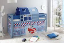 Blaue Kinder-Bettgestelle ohne Matratze aus Kiefer für Jungen
