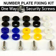 41x Numero Targa Auto Fissaggio Sicurezza viti e berretti Hinged PLASTIC COVER CAPS KIT