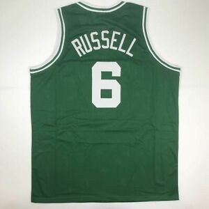 New BILL RUSSELL Boston Green Custom Stitched Basketball Jersey Size Men's XL