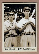 Stan Musial & Ted Williams '57, Monarch Corona Immortals #4, nm-mint cond.