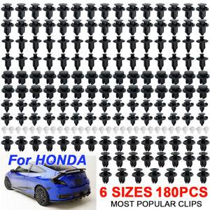 180 Bumper Hood Clips Splashguard Liner Side Skirt Fastener Push Rivet For Honda