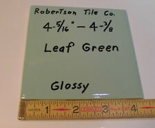 """1 pc. Glossy Ceramic Tile *Leaf Green* 4-3/8""""- 4-5/16""""  by Robertson Co.    NOS"""