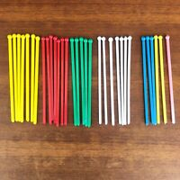 Vintage x30 Spit-It Swizzle/Stir Sticks Yellow / Red / Green / White / Blue