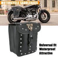 Motorrad PU Leder Satteltaschen Werkzeugtaschen Seitentaschen Für Harley