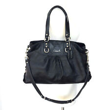 Coach Ashley Black Leather Carryall 15513 Great Condition