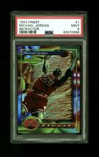 1993-94 Finest Refractor Michael Jordan #1 PSA 9 MINT Brand New Case Low POP
