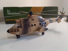 Rare Solido Hélicoptere Puma sable 1/60 neuf