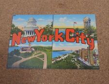 1950's New York City Multiview Printed Postcard unposted  linen finish  xc1