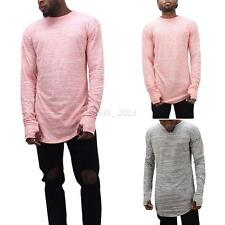 Fashion Mens Casual Long Sleeve Hip-hop Street T-shirts Loose Baggy Club Top Tee