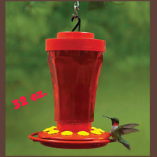 First Nature Hummingbird Feeder 32 Oz Wide Mouth #3090 Easy Clean With 10 Ports