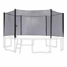 12Ft Trampoline Outer Enclosure Safety Net with 6 Poles Black 6180-N012