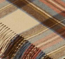 Bronte By Moon 100% Wool Travel Blanket Knee Rug in Antique Dress Stewart Tartan