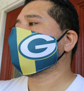 640 Green Bay Packers football face mask face cover REUSABLE washable
