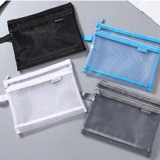 A5 A4 Mesh File Bags Portable Zipper Storage File Folder Document Wallet Pocket