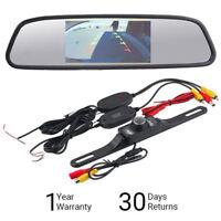 "Wireless HD Reversing Camera Car Rear View Kit + 4.3"" TFT LCD Mirror Monitor Kit"