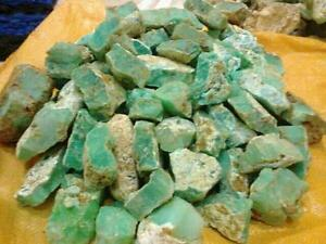 1 TO 20 KG LOT NATURAL UNTREATED ROUGH GREEN CHRYSOPAL CHALCEDONY FREE SHIPPING