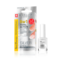 Eveline 8in1 Silver Shine Intensive Nail Conditioner Total Action 12ml 8 W 1