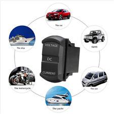 For Boat Truck Car LED Round Panel Dual LED Digital Multimeter Amp Voltage Meter