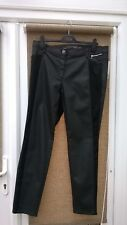 Gary Weber TAIFUN Black Faux Leather Skinny Jeans: Size UK 20: New With Tags
