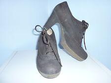 TOP UNISA Ankle Boots Stiefelette  Gr. 39 38,5 5,5 Pumps braun ECHT Leder