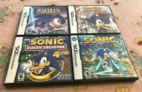 Lot of 4 Replacement Cases for Sonic the Hedgehog on Nintendo DS (NO GAMES)