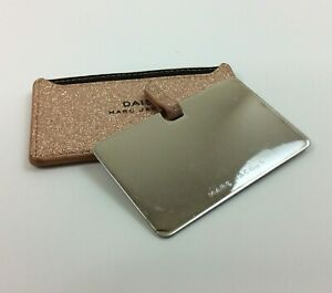"""Daisy Marc Jacobs Rose Gold Gliter Pocket Mirror with Holder 4""""x 2 1/2"""""""