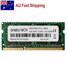 AU 8GB PC3L-10600S DDR3 1333 Mhz 1.35v SO-DIMM 204 pin CL9 Memory NON ECC Module