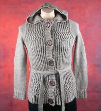 David Lawrence, Size Small Mens, Brown Knitted Alpaca Fleece Cardigan