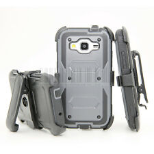 Shockproof Armor Hybrid Hard Protective Case Cover Kickstand Rugged Clip Holster