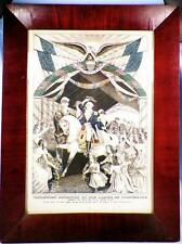 George Washingtons Reception By The Ladies On Passing Trenton Print Currier 1845