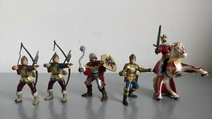 Papo Medieval Action Figures Bundle - King, Prince, Horse, Bowman, Officer