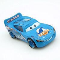 Disney Pixar 1:55 Cars NO.95 Blue Dinoco Lightning McQueen Diecast Metal Car