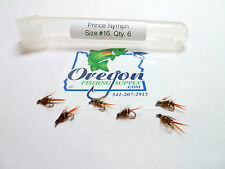 Prince Nymph #16, FREE shipping on All Additional items! (6 fly in container)